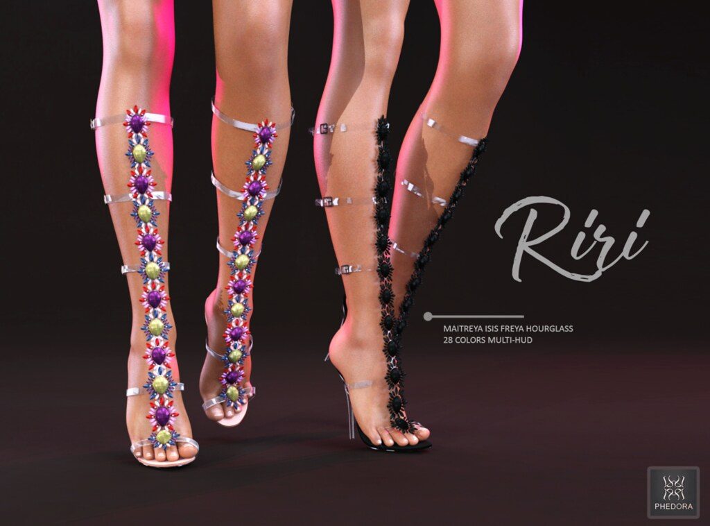 "Phedora for Uber Bday Round- ""RiRi"" gladiator heels! ♥ - SecondLifeHub.com"