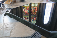 Reflection in the font at Salisbury Cathedral