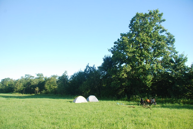 camp at morning