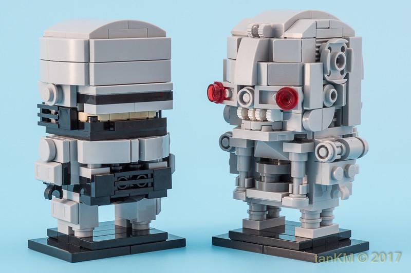 Robocop Vs. Terminator (custom built Lego model)