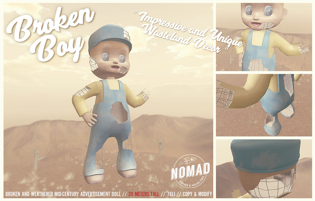 NOMAD - Broken Boy for INDIE TEEPEE! - SecondLifeHub.com
