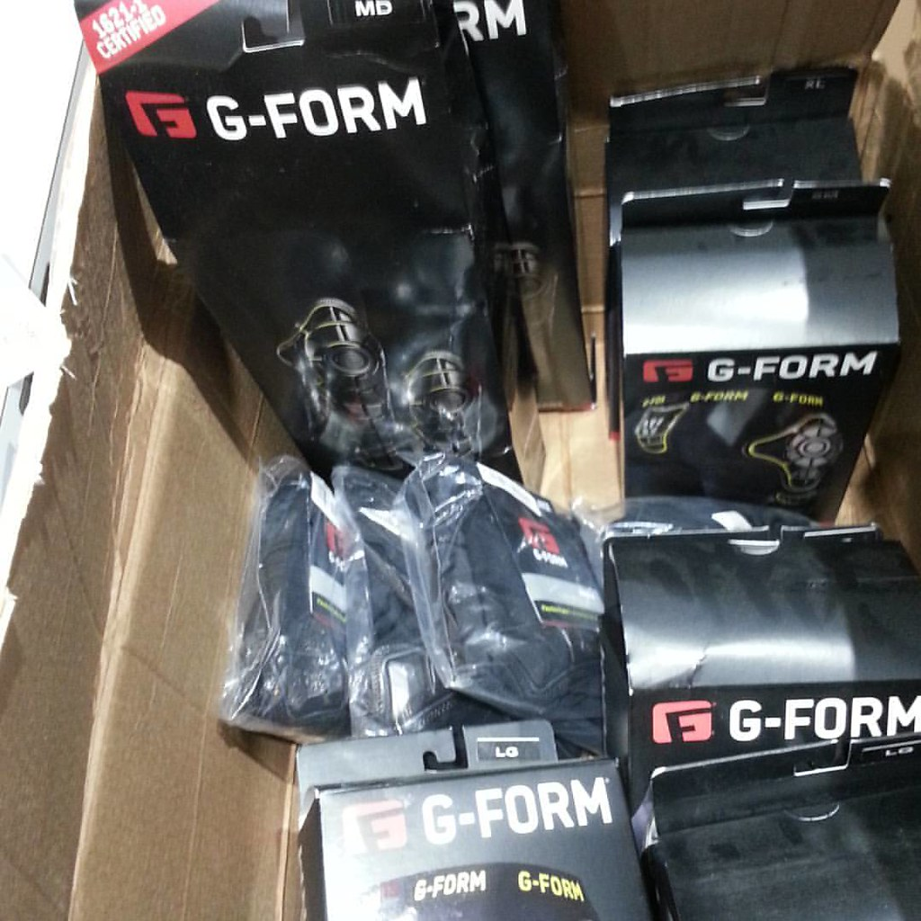 G-Form shirts shorts, knee - shin protection restocked. #gformprotects