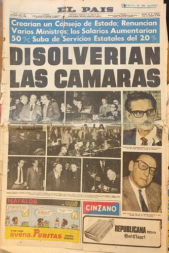 Portadas de El País - 1973