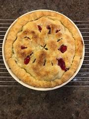201/365: Cherry Rhubarb Pie