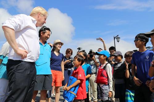 Foreign Secretary Boris Johnson visits Japan