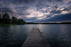 Dramatic Sunset at Lake Olchinger See