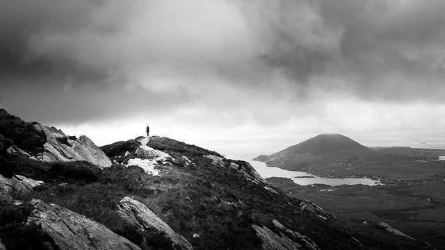 On top - Connemara, Ireland - Black and white street photography