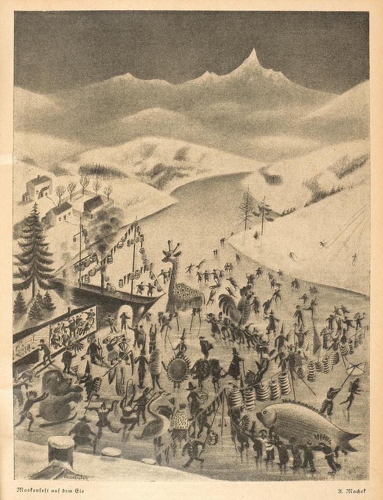 Anton Machek - Mask Fest On The Ice, 1929