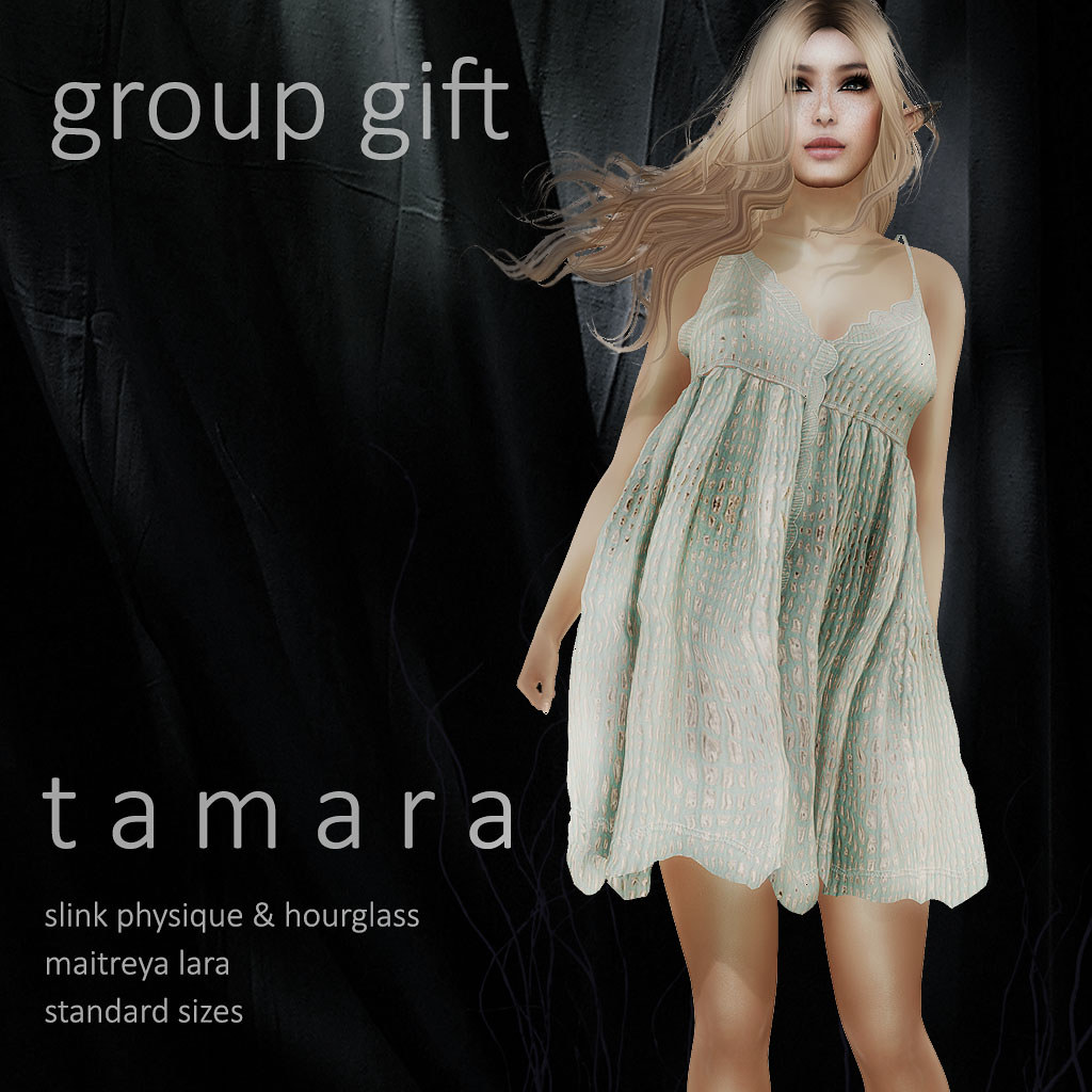 !gO! Tamara dress - gift group - SecondLifeHub.com