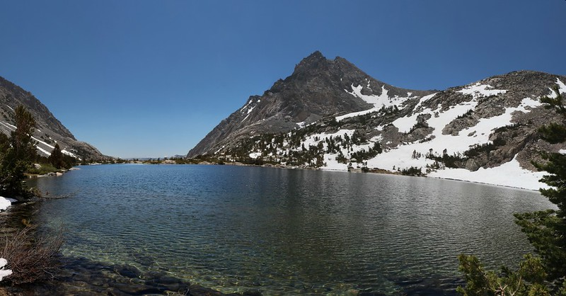 Paiute Lake from the Paiute Pass Trail