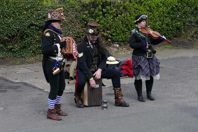 steampunk folk dancing band