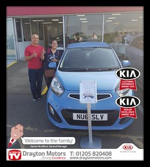 Mr and Mrs Sanidad collecting there Picanto from Jack. Mr and Mrs Sanidad travelled all the way from London and we want to thank them for their business… Welcome to the family !