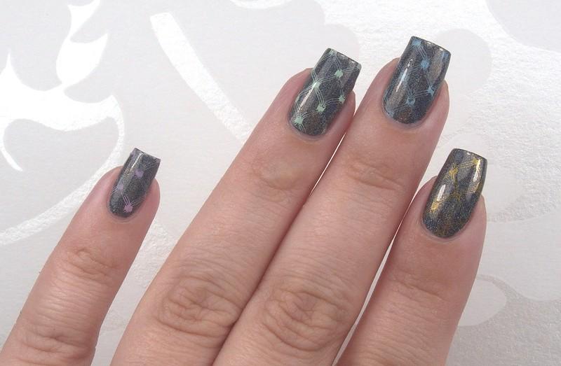 Konad stamping nail polish swatches
