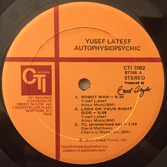 YUSEF LATEEF:AUTOPHYSIOPSYCHIC(LABEL SIDE-A)