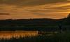 Sonnenuntergang am Schmachter See, Binz