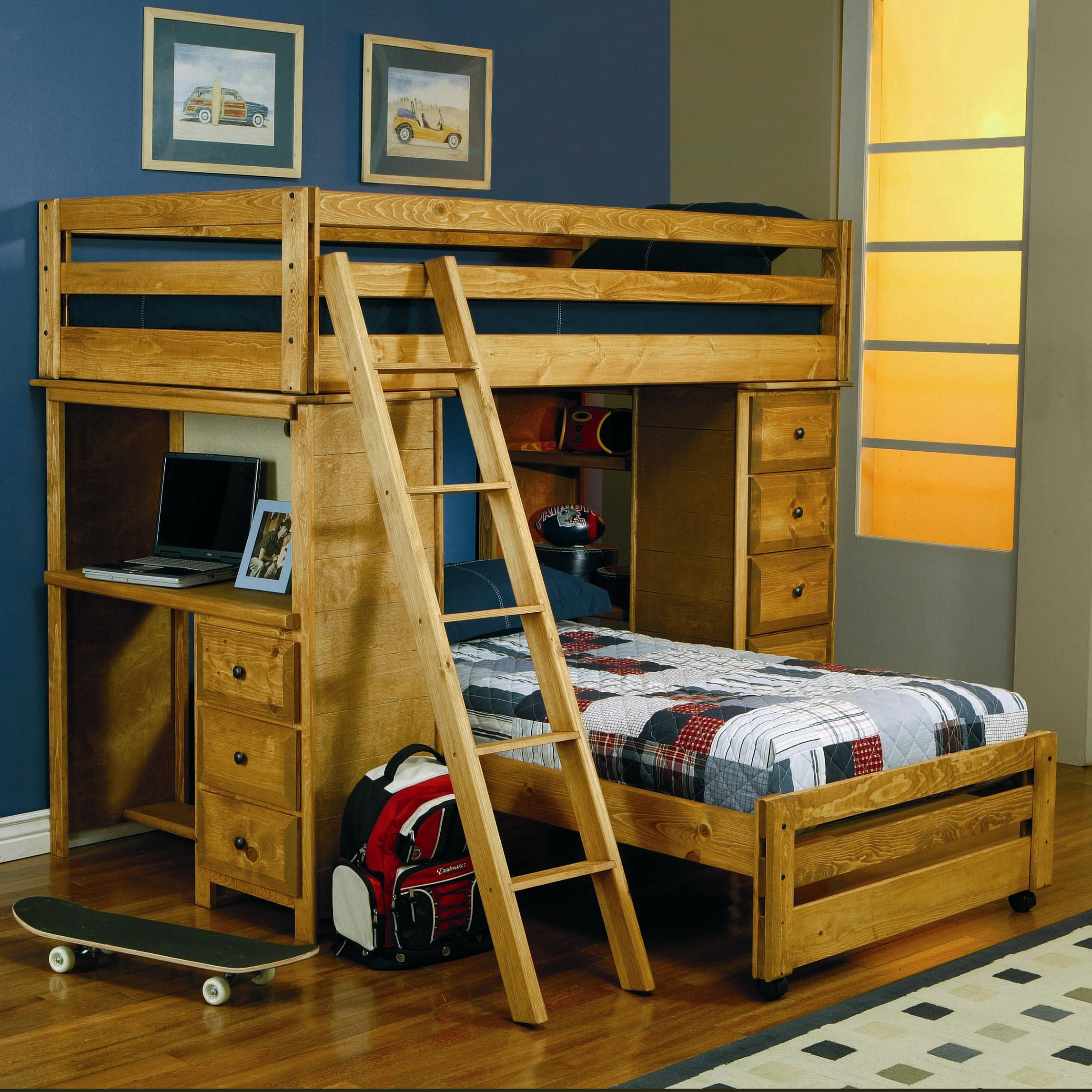 Coaster Wrangle Hill Twin Loft Bunk Bed WStorage Desk_460141