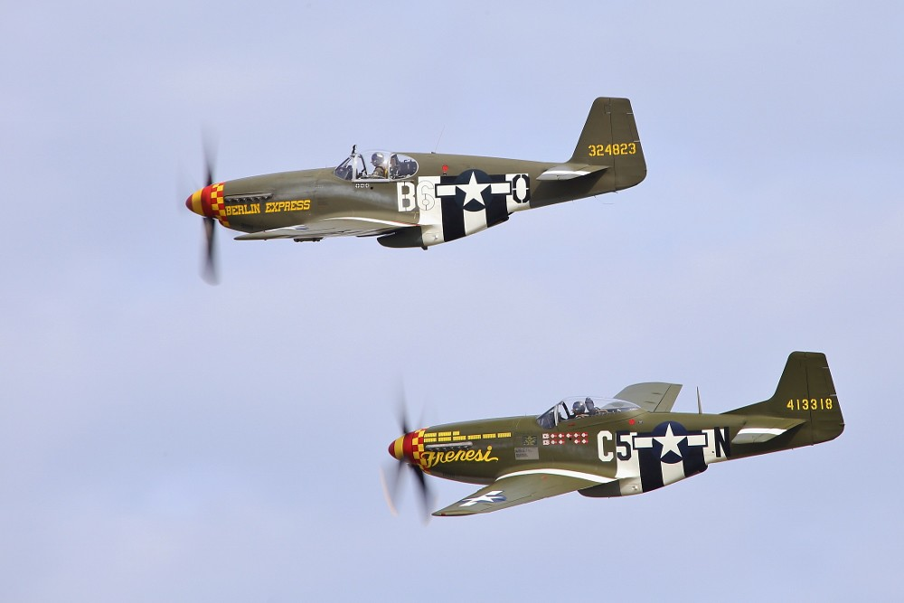 Two, of three, Horsemen (P-51B Berlin Express and P-51D Frenesi)
