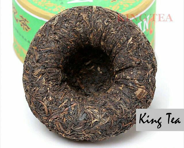 Free Shipping 2007 XiaGuan JiaJi Green Boxed Tuo Bowl 200g*4=800g YunNan MengHai Organic Pu'er Raw Tea Weight Loss Slim Beauty Sheng Cha