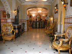 Entrance hall in the Mozart Hotel in Brussels, Belgium