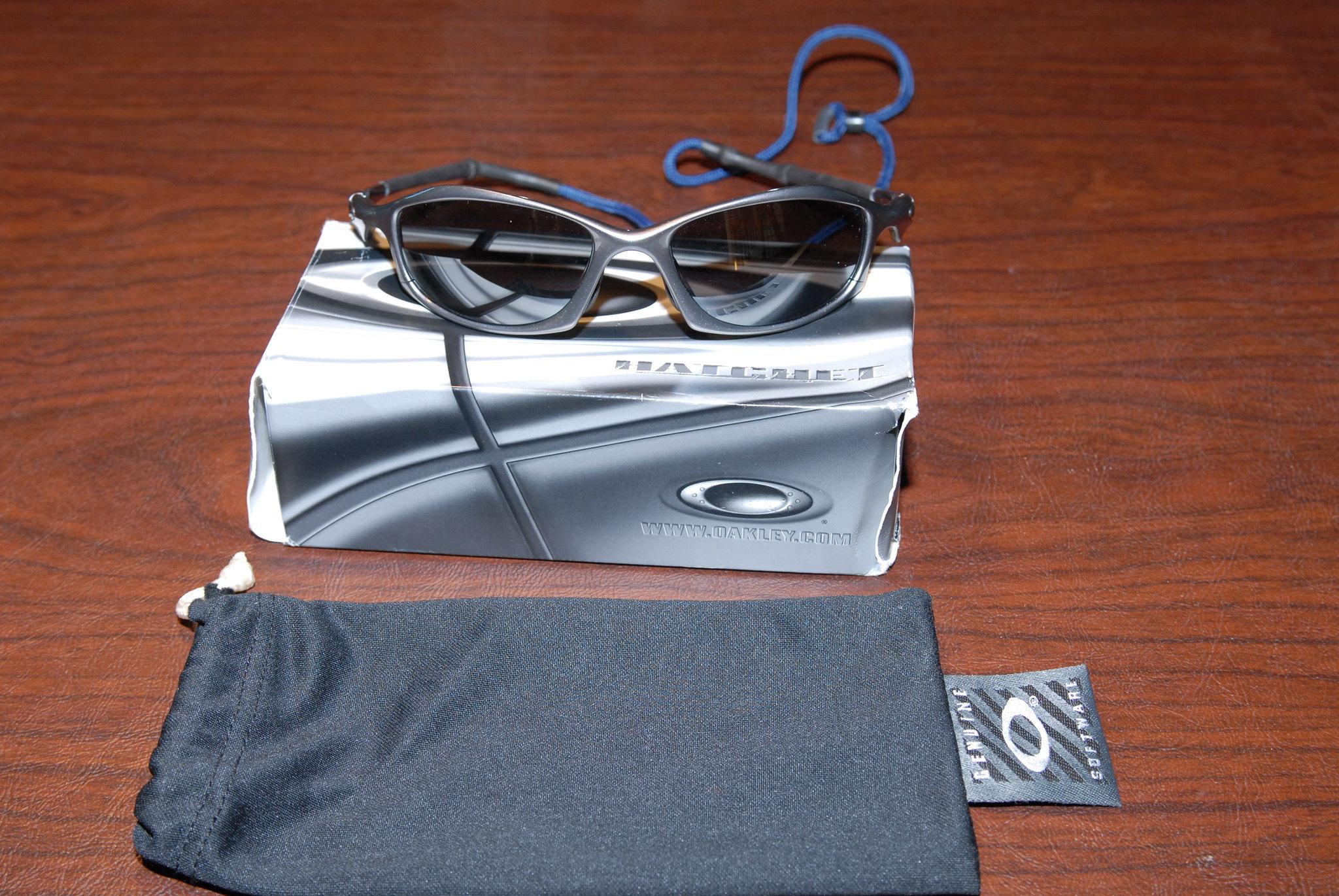 2998cbd805 SOLD - DONE Oakley Hatchet Sunglasses - Black Iridium Polarized with ...