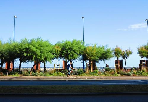 Hoy día de bicis en Donostia