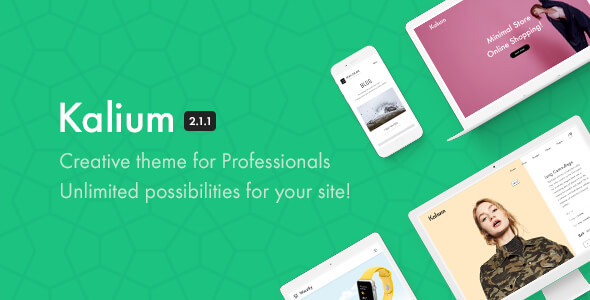Kalium v2.1.1 – Creative Theme for Professionals