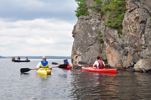 Kayak to the pictographs, at Bon Echo Provincial Park