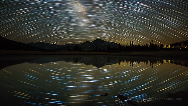 Star Trails Over The Sierra Nevada