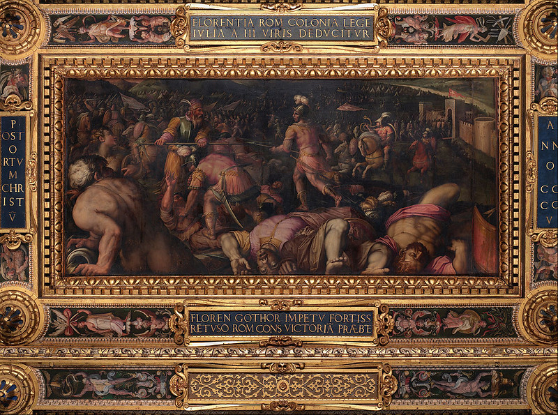Defeat of Radagasio, by Giorgio Vasari