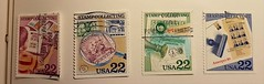 Stamps about stamp collecting