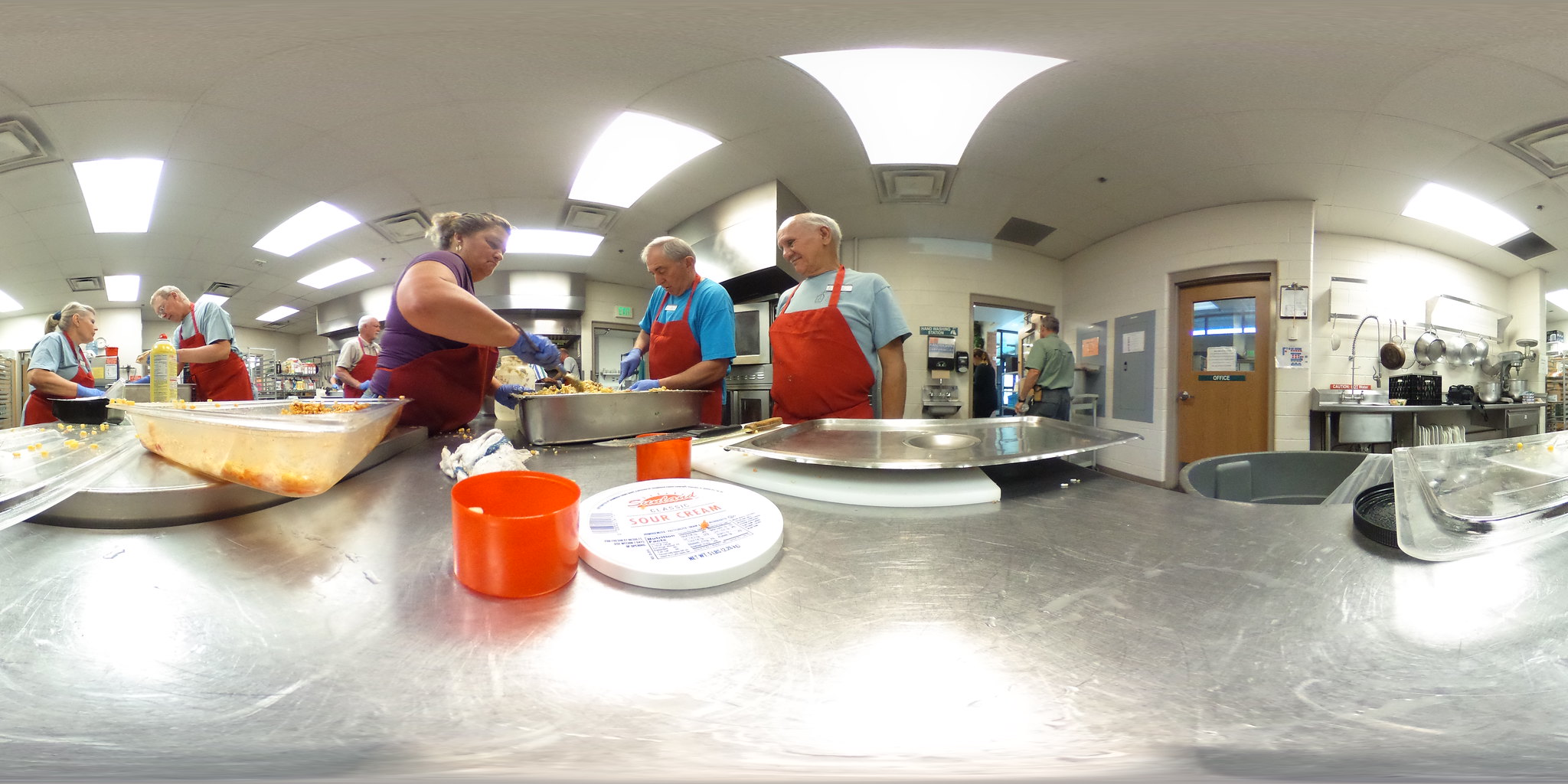Marian House Soup Kitchen Volunteers Prepping for Lunch