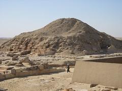 The pyramid of Unas at Saqqara