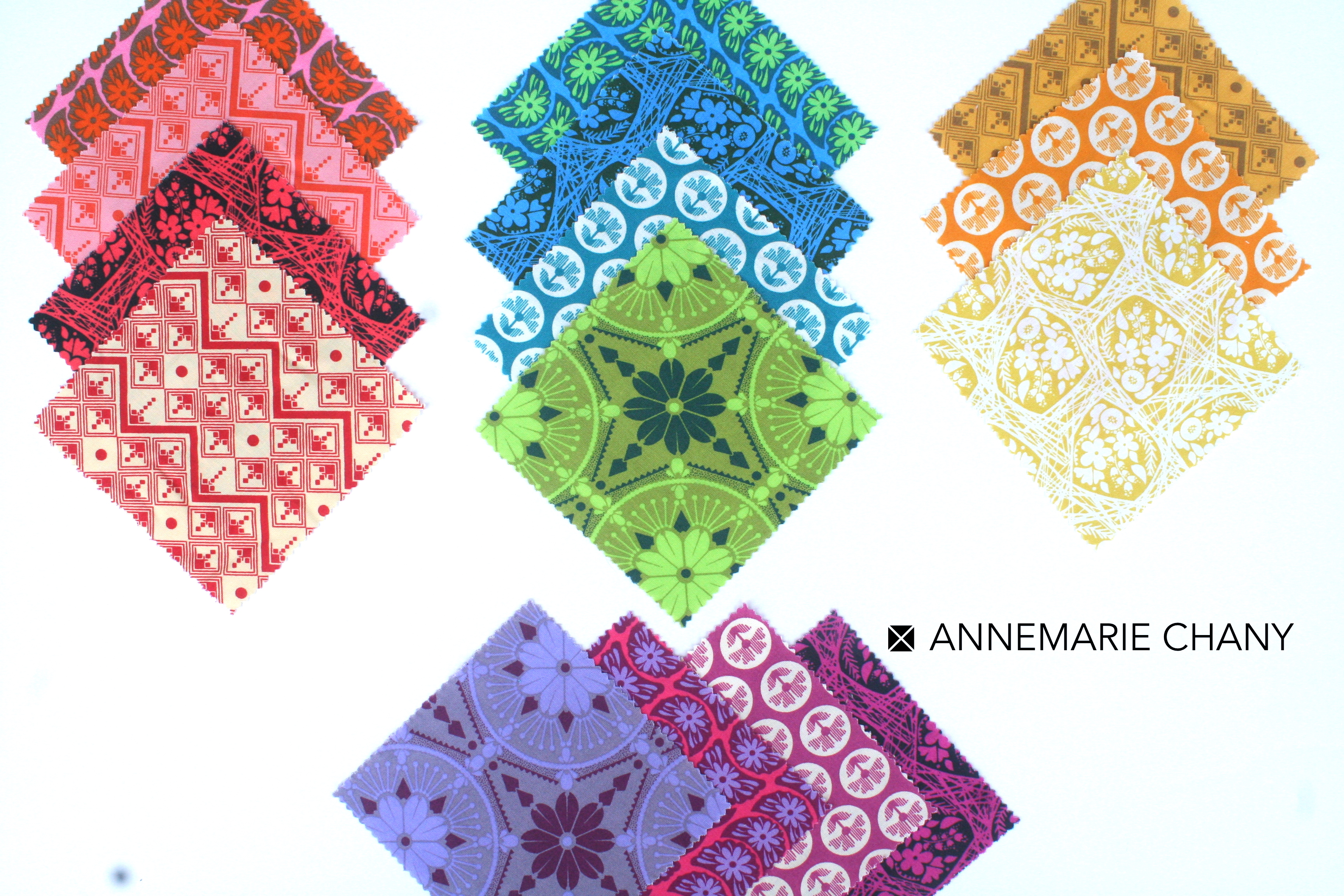 True Colors Charms for Hoop Quilt Along by AnneMarie Chany