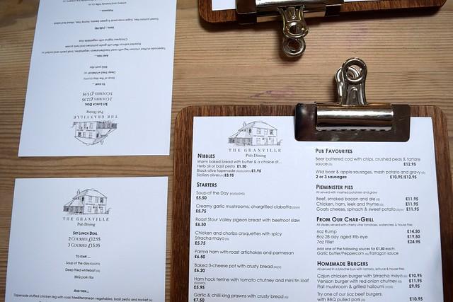 Lunch Menu at The Granville, Canterbury | www.rachelphipps.com @rachelphipps