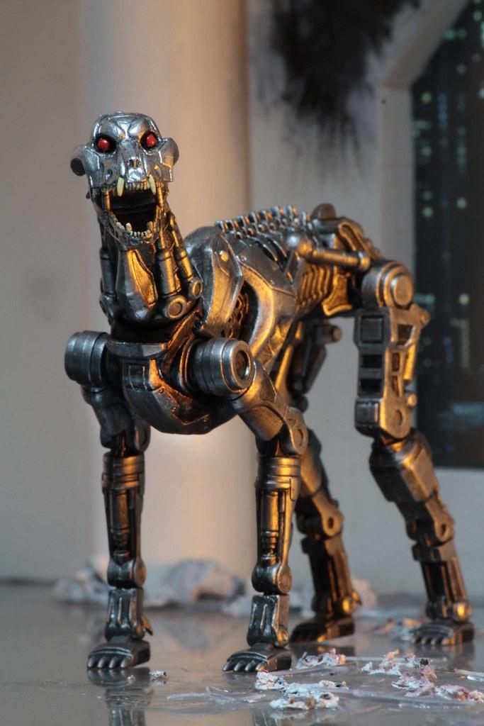 NECA 機器戰警大戰魔鬼終結者【終結者戰警(暫譯)&狗型終結者組合包】RoboCop vs The Terminator  EndoCop&Terminator Dog 7 吋可動人偶作品