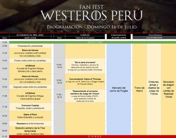 Fan Fest Westeros Perú | Inicio de temporada