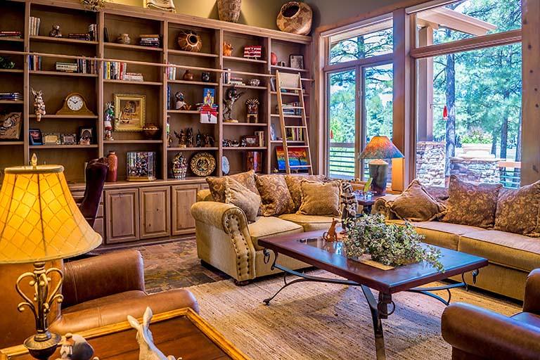 木頭色的溫暖客廳