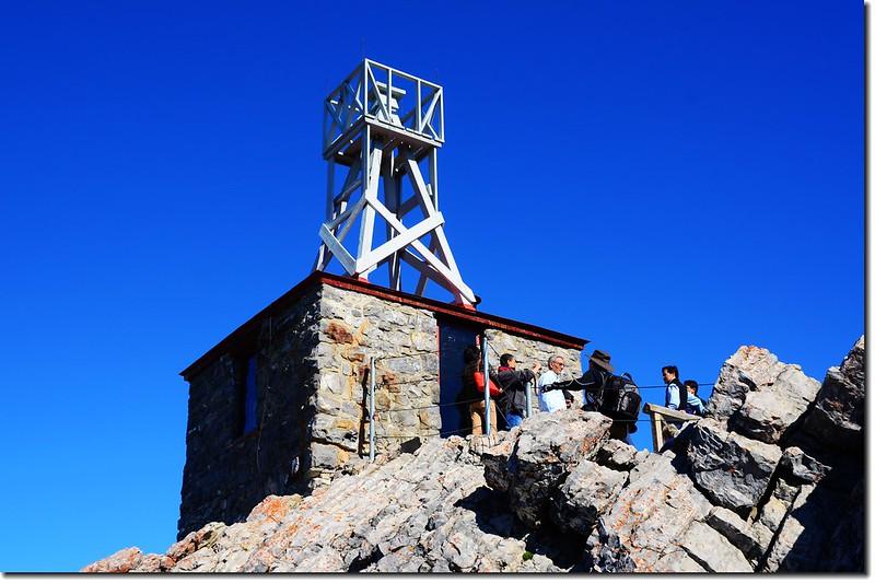 Meteorological observatory building on Sanson Peak