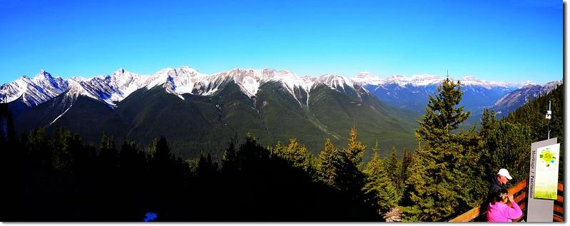 Panoramic View Of Banff Gondola Upper Terminal 1
