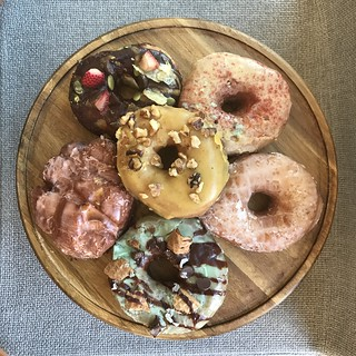 All of the donuts - Doe Donuts | Portland Vegan Food Tour 2017 #portland #vegan sweetsimplevegan.com