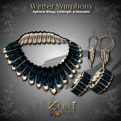 50% Steals - Winter Symphony - Blue Topaz-Bronze