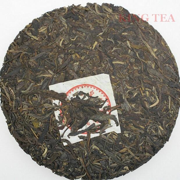 Free Shipping 2014 XiaGuan Royal Cake Beeng 357g YunNan MengHai Organic Pu'er Raw Tea Weight Loss Slim Beauty Sheng Cha