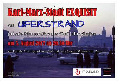 Plakat Karl-400_Marx-Stadt EXQUISIT am Uferstrand 2017