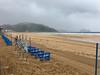 Playa de Zarautz desierta en un dia de verano 24-7-2017