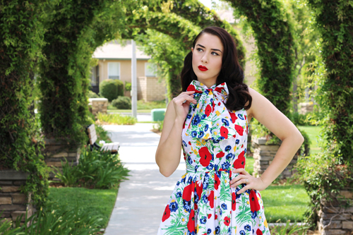 Trashy Diva Streetcar Dress in Wildflowers Southern California Belle