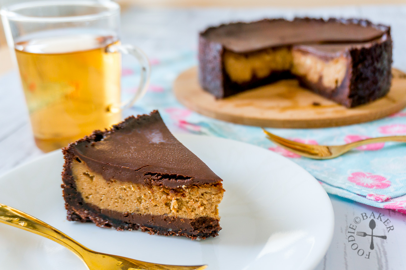 Coffee Cheesecake with Chocolate Ganache