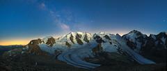 Bernina Range blue hour and milky way