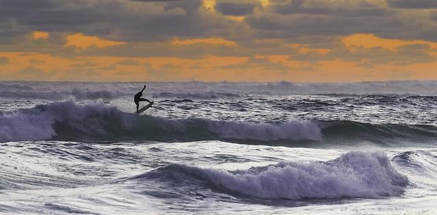 Sunset Surfer, Nikon D750, AF-S Nikkor 70-200mm f/4G ED VR