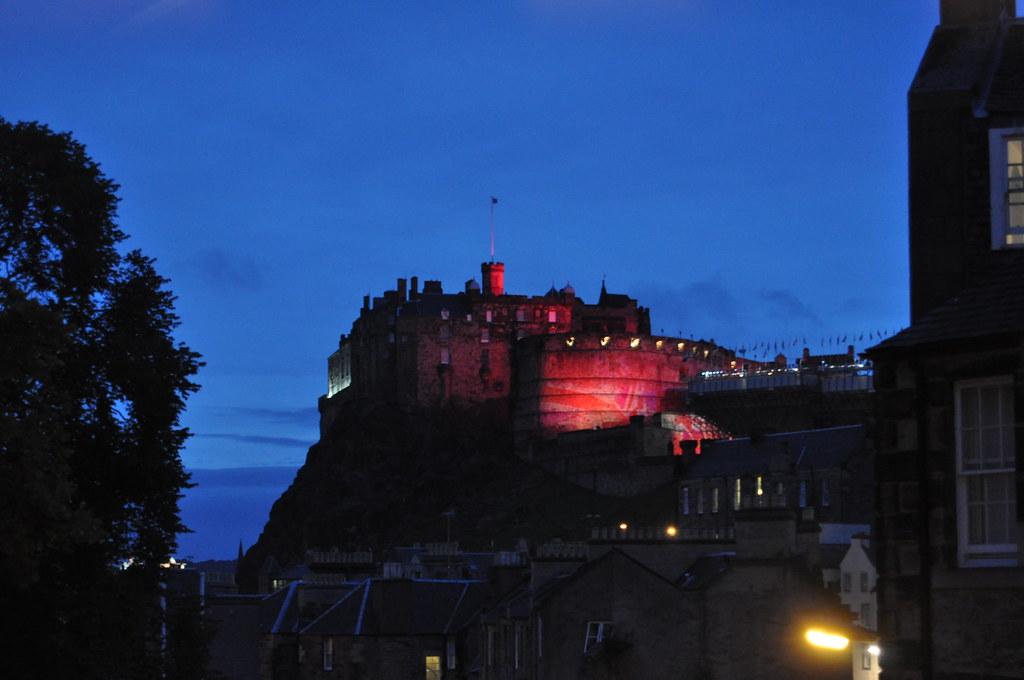 Edinburgh Castle from The Elephant House