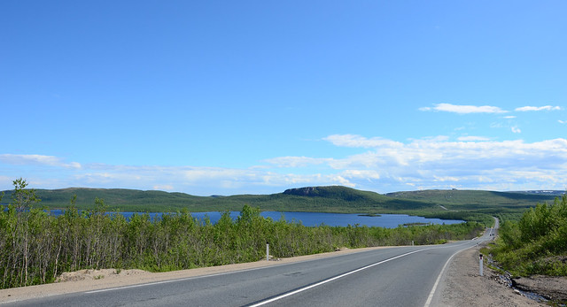 Russia views. road to murmansk